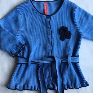 Hanna Andersson sweater size 90 3T blue cardigan